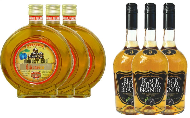 3xPlum Brandy Manastirka + 3xSlivovitz Black Widow 10% Discount